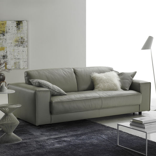 Minerale Luxury Leather Italian Sofa Bed